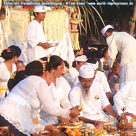 Ceremony on Kuta Beach