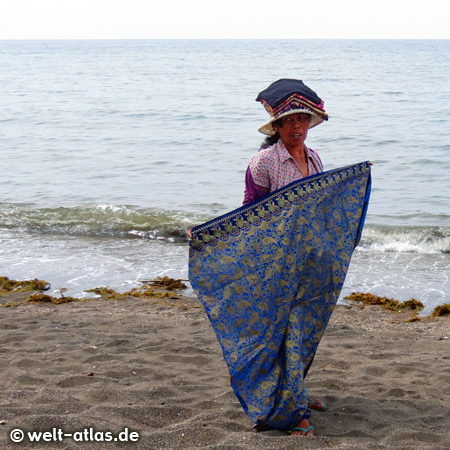 Woman on the beach of Lovina