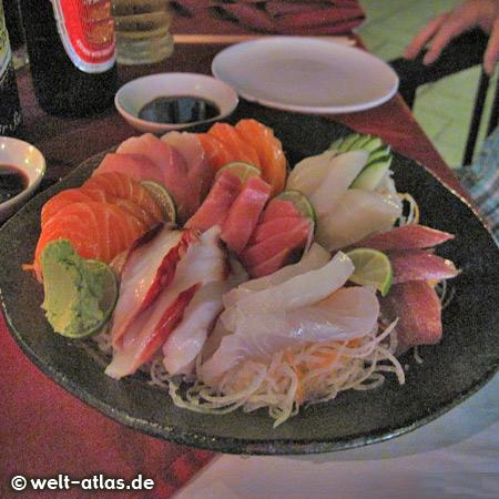 Sashimi im Restaurant Hanabi, Nusa Dua, Bali
