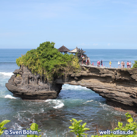 Neighboring temple on a rock next to Tanah Lot