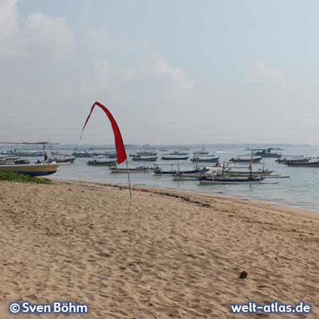 Fishing boats on the beach of Tanjung Benoa