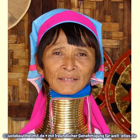 Langhals-Frau der Padaung