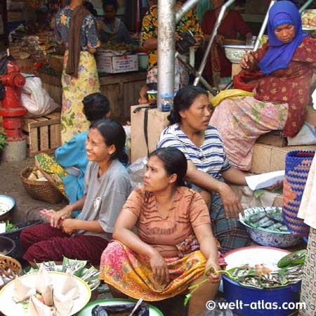 Markthalle in Gunungsari, Lombok