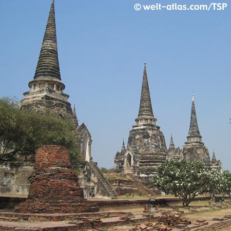 Ayutthaya, Wat Phra Si Sanphet, Thailand, Provinz Ayutthaya