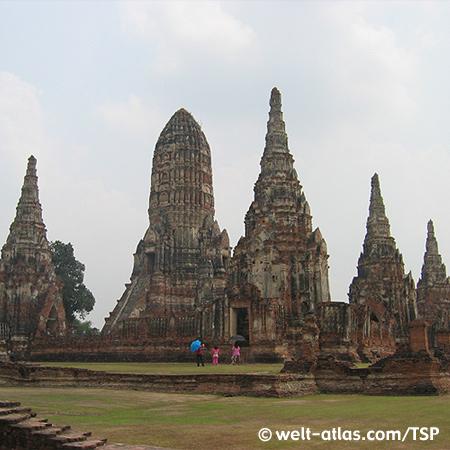 Ayutthaya, Wat Chai Watanamaran, Thailand, Provinz Ayutthaya