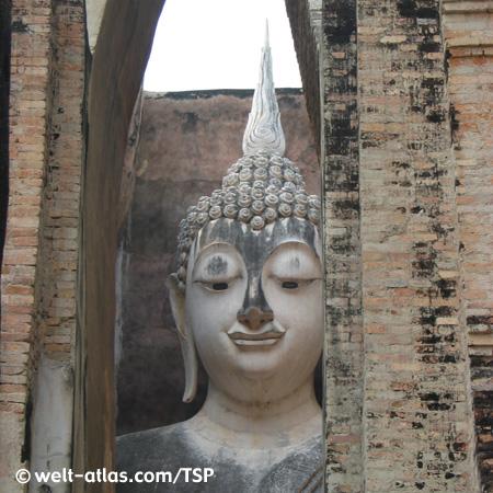 Sukhothai, Wat Sri Chum, Thailand,Provinz Sukhothai