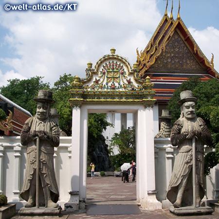 Steinerne Tempelwächter am Wat Pho