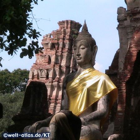 Ayutthaya Buddha Statue, Thailand,Provinz Ayutthaya