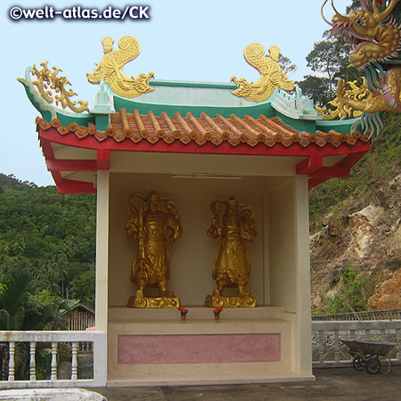 Chinesischer Tempel auf Koh Phangan, Thailand, Provinz Surat Thani