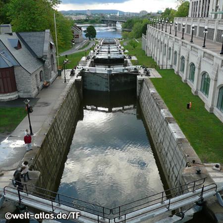 Schleusen des Rideau Kanals, Ottawa-Fluss, Ottawa