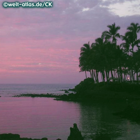 Sonnenuntergang am Waikoloa Beach, Hawaii, Big Island