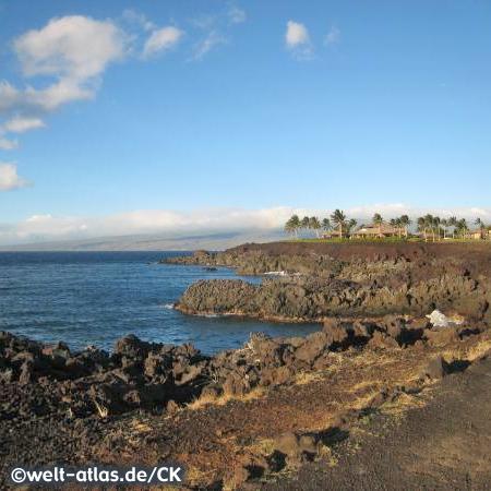 Am Waikoloa Beach, Hawaii, Big Island