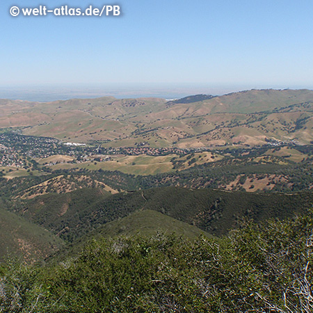View from Mount Diablo, Mount Diablo State Park, San Francisco Bay Area