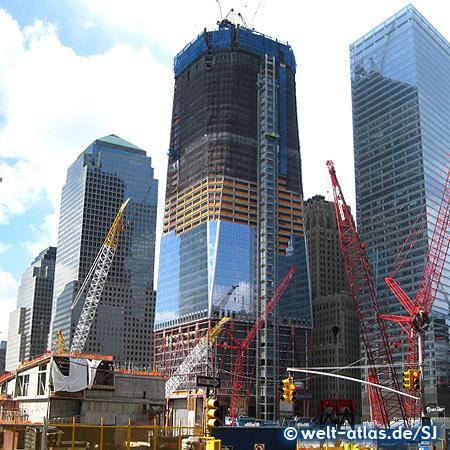 Baustelle am Ground Zero, Manhattan, hier entsteht der neue World Trade Center Komplex