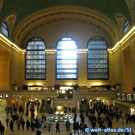 Haupthalle der Grand Central Station, Bahnhof im Jugendstil erbaut, Manhattan, New York City