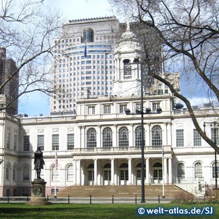Das Rathaus von New York City ist das älteste, noch genutzte Rathaus der Vereinigten Staaten von Amerika