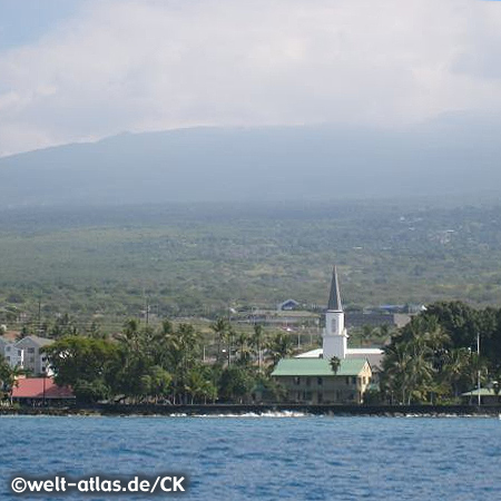 Oldest church in Hawai'i, Moku'aikaua Church in Kailua-Kona on the Big Island