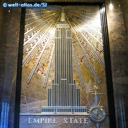 In der Eingangshalle des Empire State Building, Manhattan, New York City