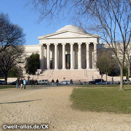 The Thomas Jefferson Memorial,third president of the United States