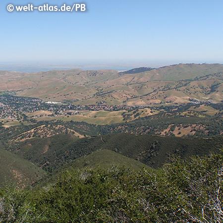 Blick vom Mount Diablo, Mt. Diablo State Park, Kalifornien