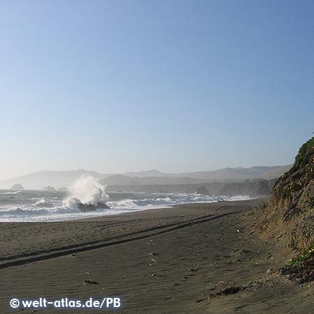 Wilder Strand der Sonoma Coast in Kalifornien (CA Mitte-Süd)