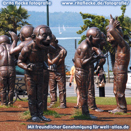 Vancouver Biennale, Die lachenden Skulpturen, Bronze zur Biennale Vancouver  – Foto:©http://www.ritaflecke.de/fotografie/