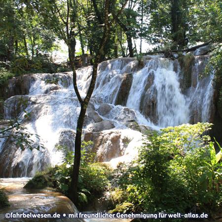 Cataratas de Agua Azul, Wasserfälle südlich von Palenque – Foto:©fahrbelwesen.de