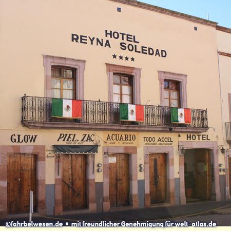 Kleines Hotel in der historischen Altstadt von Zacatecas – Foto:©fahrbelwesen.de