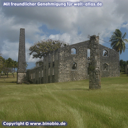 Ruins of a sugar factory on Marie Galante, Guadeloupe