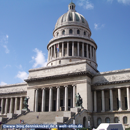 El Capitolio, (National Capitol Building) former seat of the government in Havana – Photo: www.blog.dennisknickel.dealso see http://tupamaros-film.de