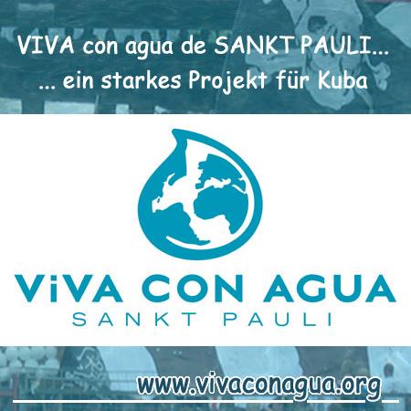 """WASSER IST LEBEN2005 entstand nach einem Trainingslager des FC St. Pauli auf Kuba das großartige Trinkwasserprojekt """"Viva con Agua"""" – www.vivaconagua.org"""