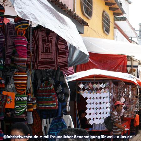 Market stalls in Chichicastenango