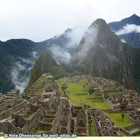Inkastadt Machu Picchu in den Anden, Weltkulturerbe der UNESCO, Foto:©Nele Ohnesorge