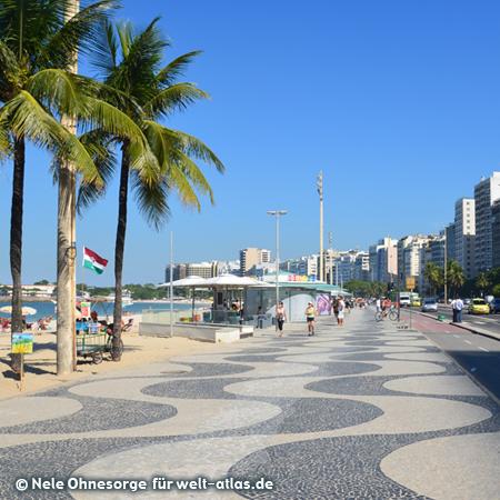 Weltbekannter Strand von Copacabana in Rio, Foto:©Nele Ohnesorge