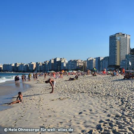 Famous beach of Copacabana in Rio de janeiro