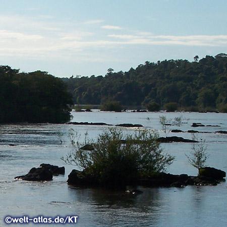 guazú-Wasserfälle, Zusammenfluss von Iguaçu und Paraná an der Grenze zwischen Argentinien und Brasilien, UNESCO-Welterbe