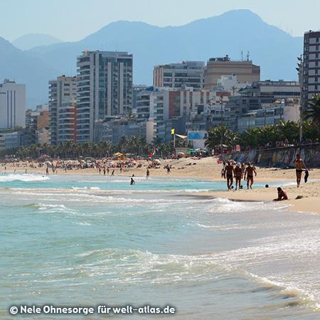 Am Strand von Ipanema, Rio de Janeiro, Foto:©Nele Ohnesorge
