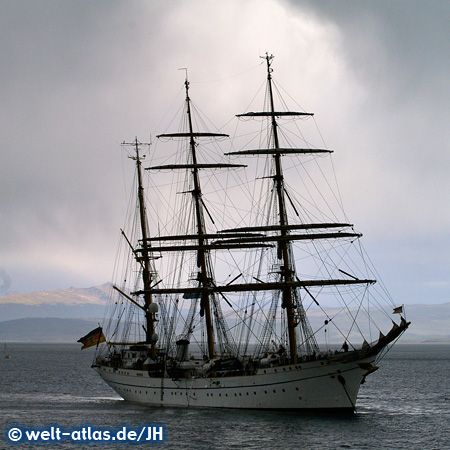 Gorch Fock, training ship, Port Ushuaia