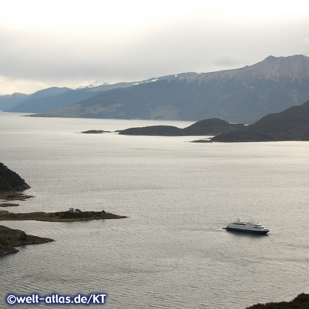 The Via Australis, Tierra del Fuego, Wulaia Bay, Chile