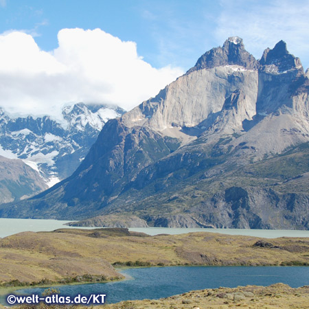 Cuernos and Lago Pehoé, Torres del Paine National Park, Chile