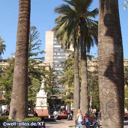 Santiago de Chile, die Plaza de Armas im historischen Zentrum der Stadt