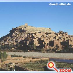 Foto von Panorama of Aït Benhaddou, Morocco