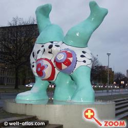 """Foto von """"Nana"""", Niki de Saint Phalle, Hannover,"""